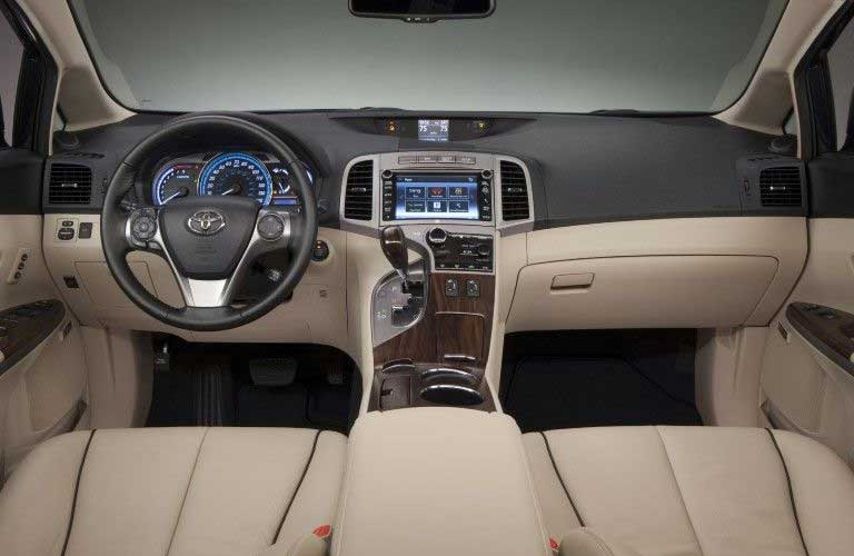 Front interior in the 2015 Toyota Venza