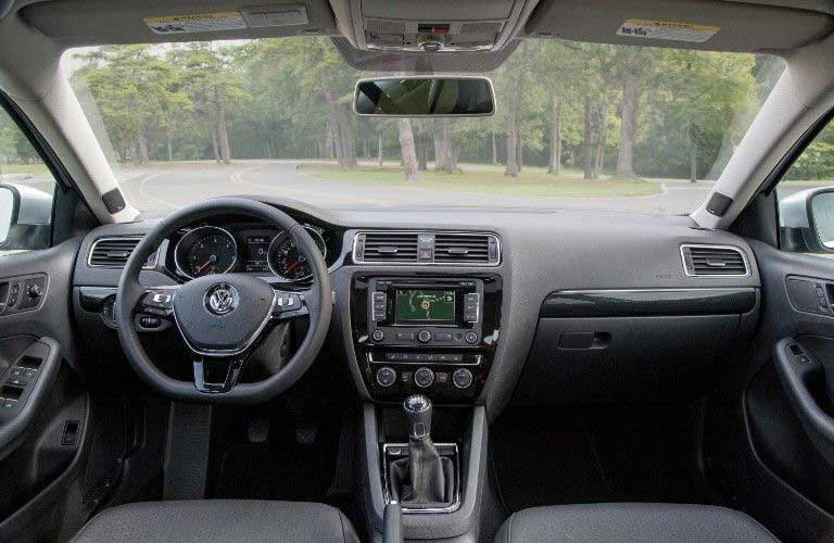 Front interior in the 2015 Volkswagen Eos