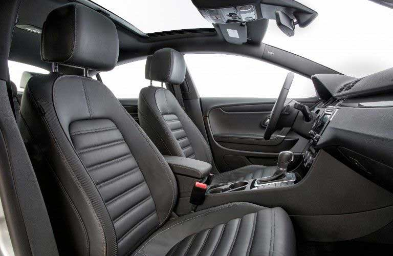 Front seats inside the 2017 Volkswagen CC