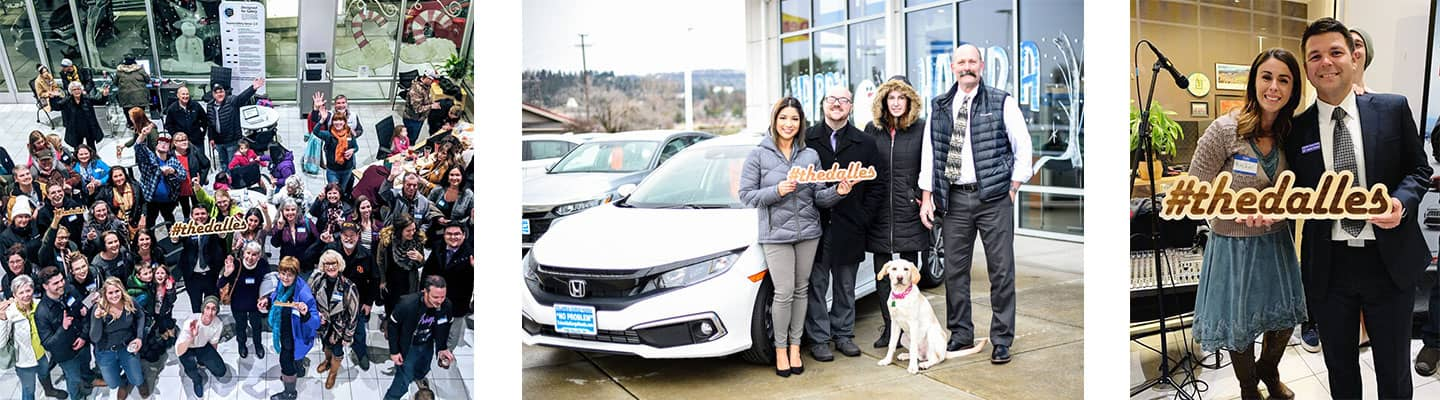Happy customers and Columbia Gorge Honda employees