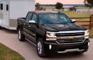 Chevrolet Silverado black front