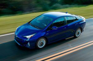 2017 Toyota Prius top blue