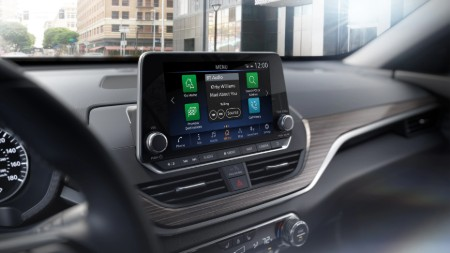 Close up of the touchscreen display inside the 2020 Nissan Altima