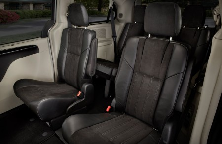 Second row seats inside the 2016 Chrysler Town & Country