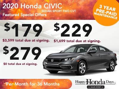 2020 Civic Sedan CVT Sport