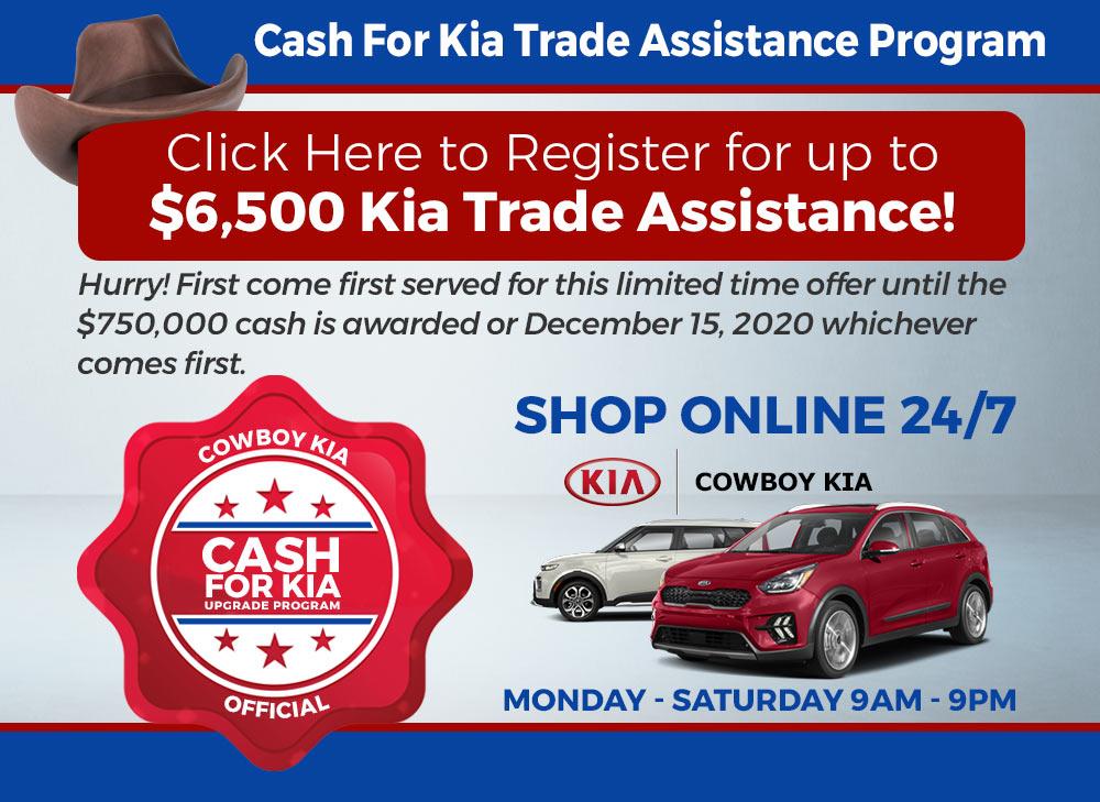 cash for kia trade assistance program