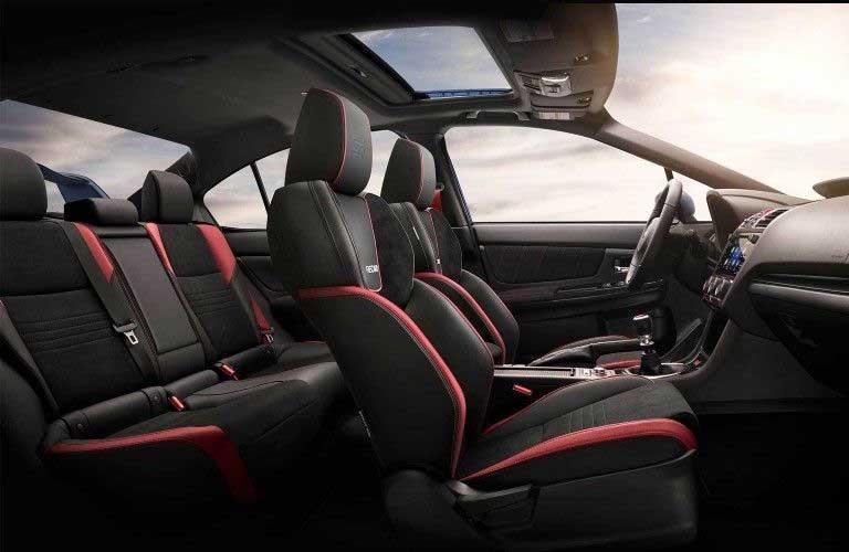 Seats inside the 2020 Subaru WRX