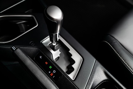 Close up of an automatic transmission gear knob