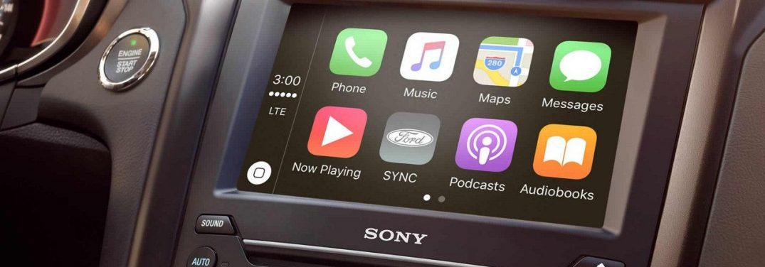 Ford SYNC 3 interface in a 2018 Ford Fusion