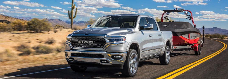Ram 1500 towing a trailer