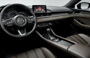 Mazda6 dashboard and steering wheel