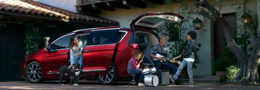 Interior of used Chrysler Pacifica can be loaded with family-friendly features