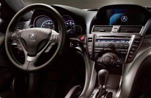 Acura TL steering wheel and dashboard