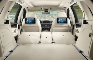 BMW X5 interior with seats folded down