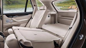 BMW X3 rear seat folded down