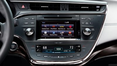 Infotainment system in the 2017 Toyota Avalon