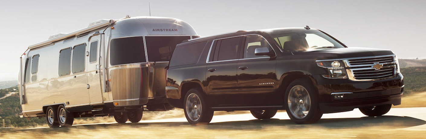 Large interior of Chevy Suburban SUV offers impressive passenger and cargo space