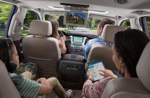 2018 Chevy Suburban interior passenger seats