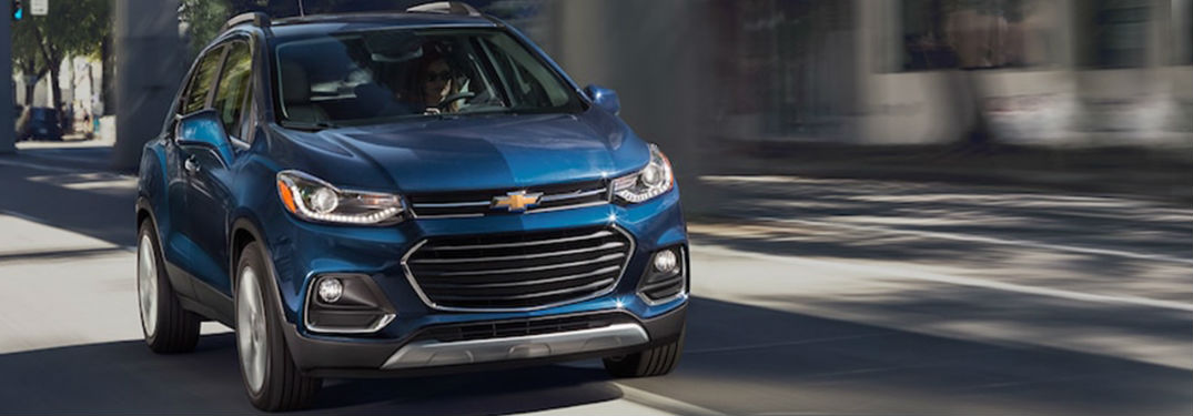 Chevy Trax driving on a road