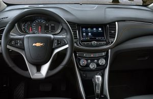 Chevy Trax dashboard and steering wheel
