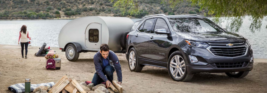 Chevy Equinox parked with trailer attached