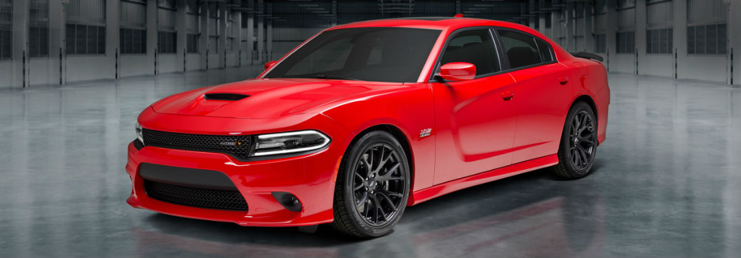 Dodge Charger parked showing front and side profile