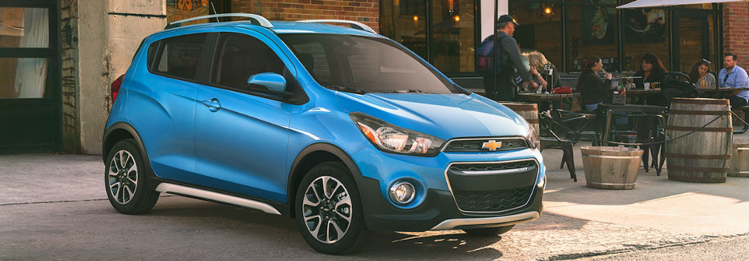 Chevy Spark parked on a street