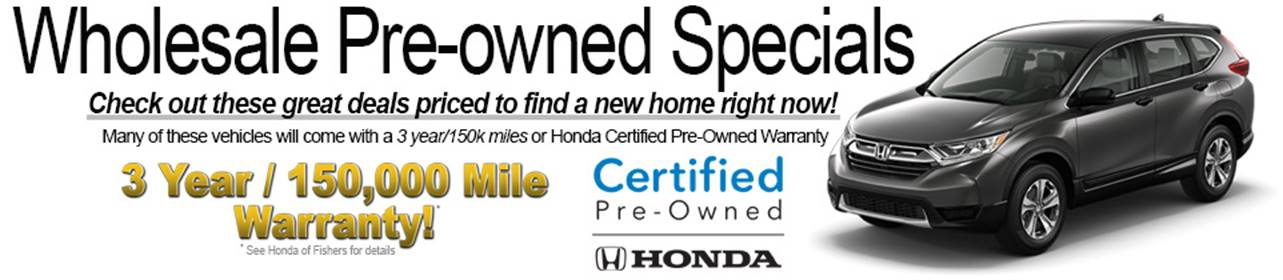 Wholesale Pre-Owned Specials