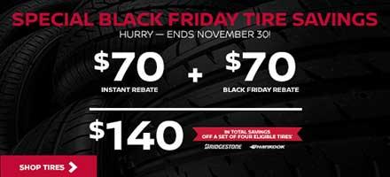 Black Friday Tire Savings