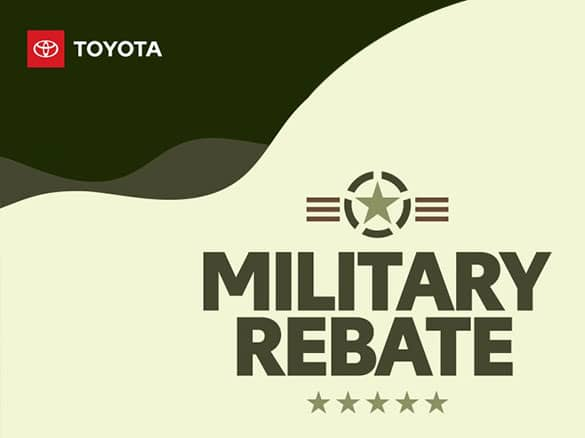 Toyota Military Rebate Logo