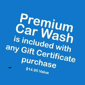 Premium Car Wash included