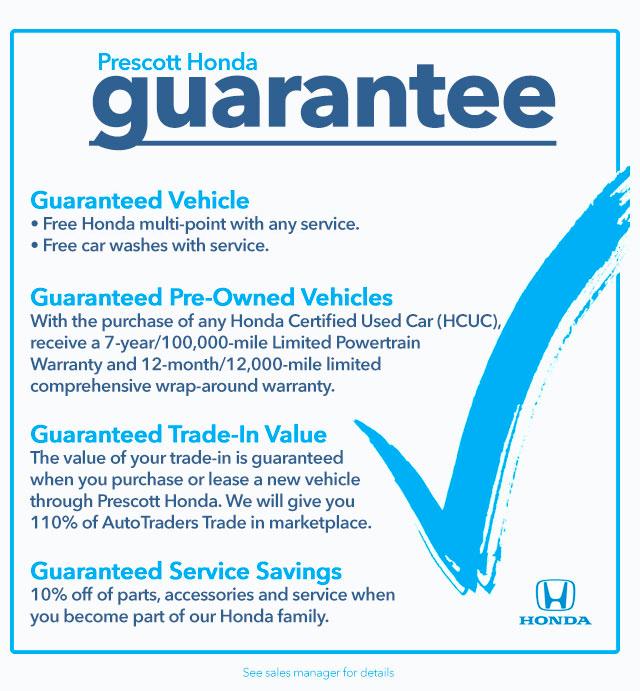 Prescott Honda Guarantee