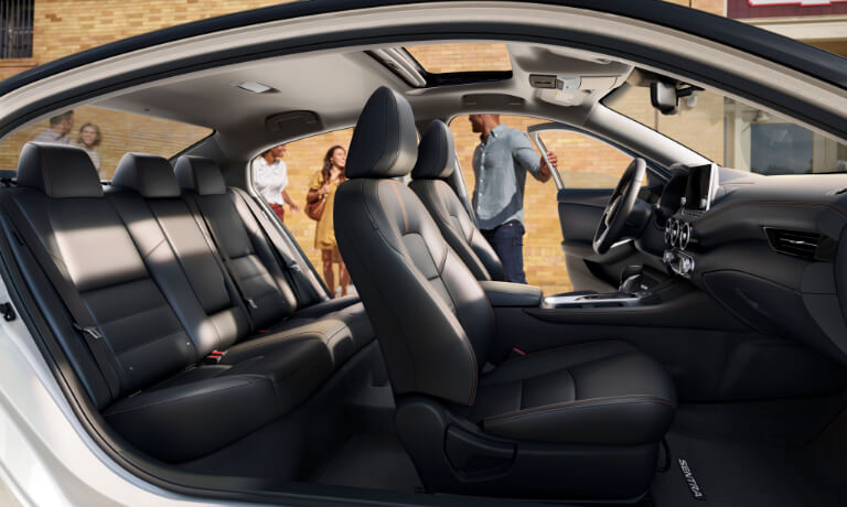 2020 Nissan Sentra interior seating sideview