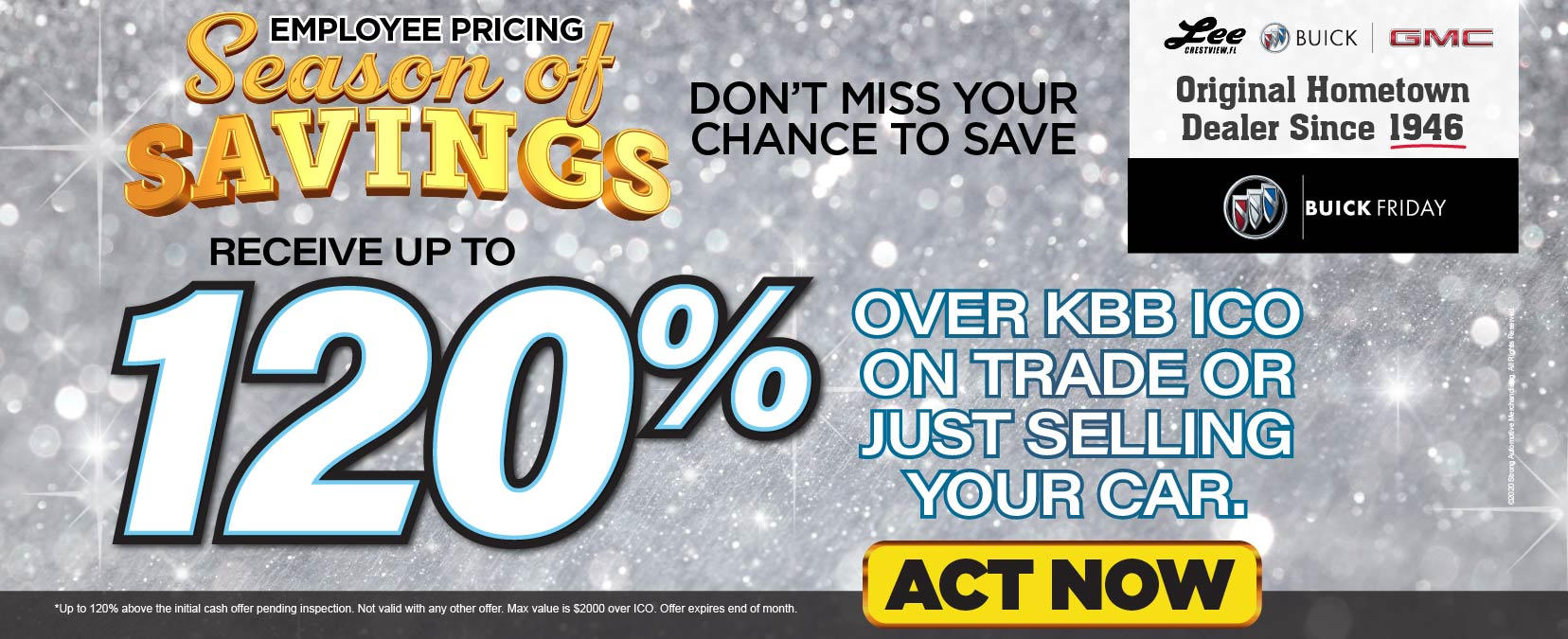 Receive up to 120% over KBB