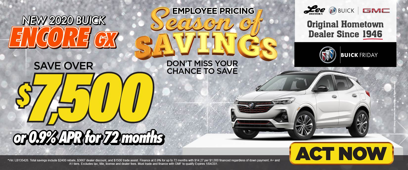 New 2020 Buick Encore - Save over $7,500