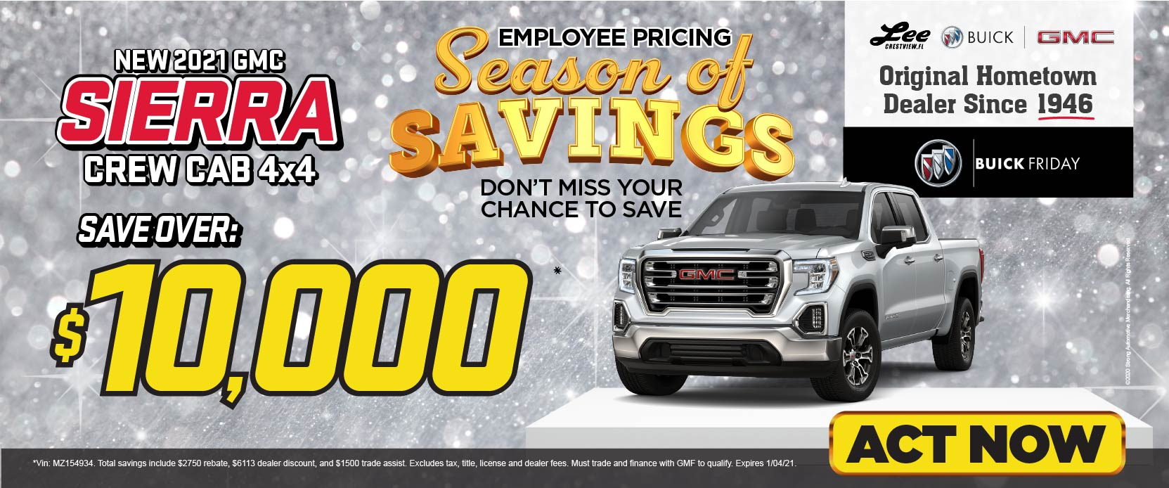 New 2021 GMC Sierra - Save over $10,000