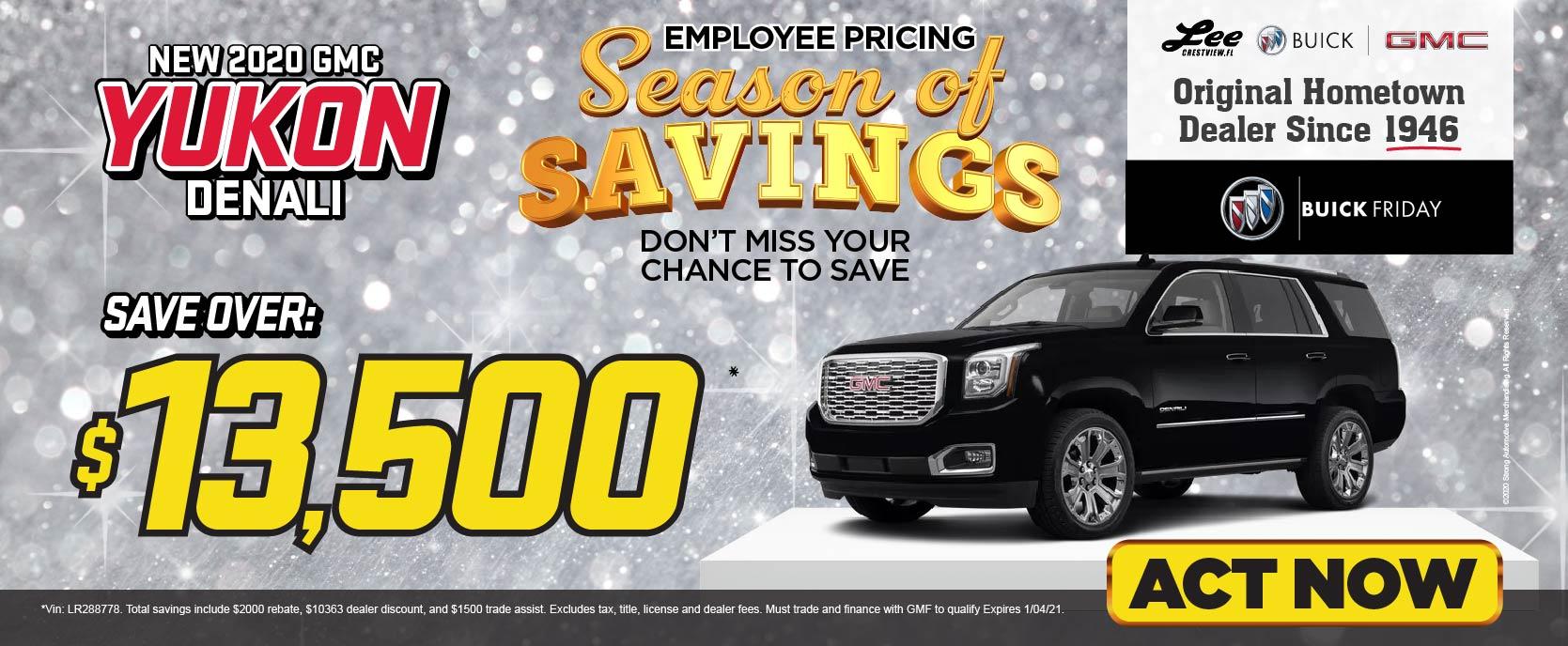 New 2020 GMC Yukon - Save over $13,500