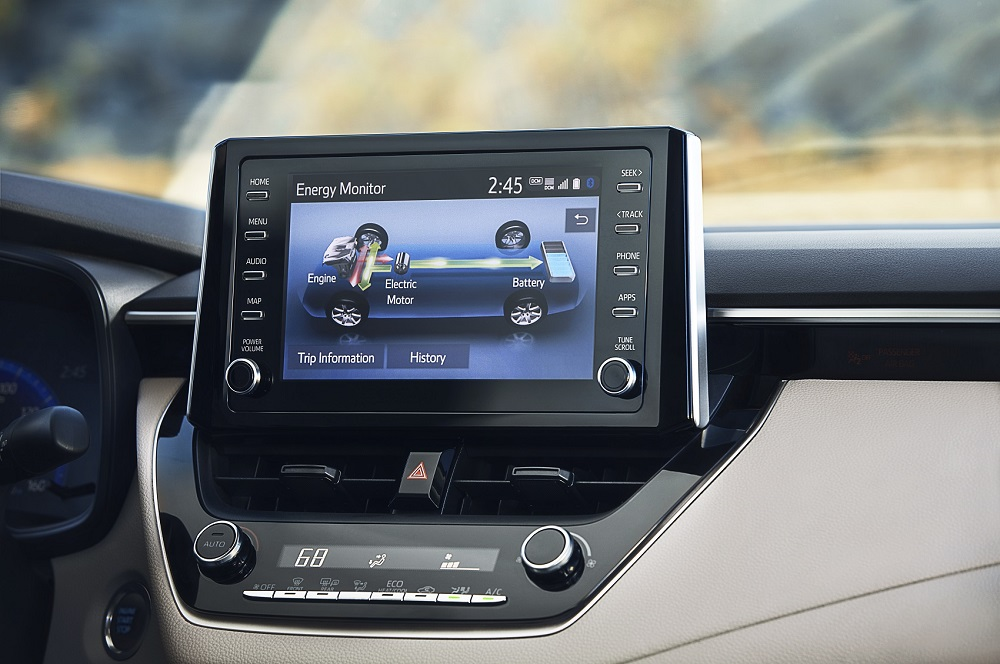 2021 Toyota Corolla Hybrid Interior Technology
