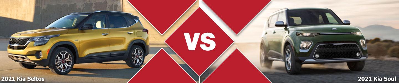 2021 Kia Seltos vs 2021 Kia Soul Compact SUV Comparison