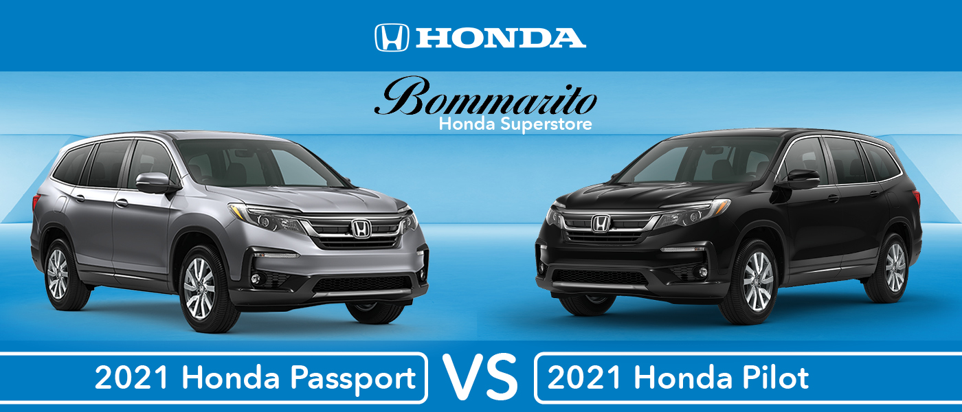 2021 Honda Pilot vs. 2021 Honda Passport