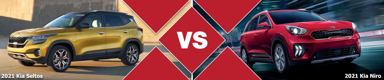 2021 Kia Seltos vs 2021 Kia Niro Compact SUV Comparison