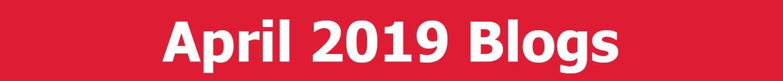 April 2019 Blogs