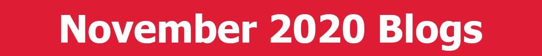 November 2020 Blogs