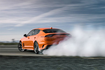 2020 Kia Stinger GTS rearview