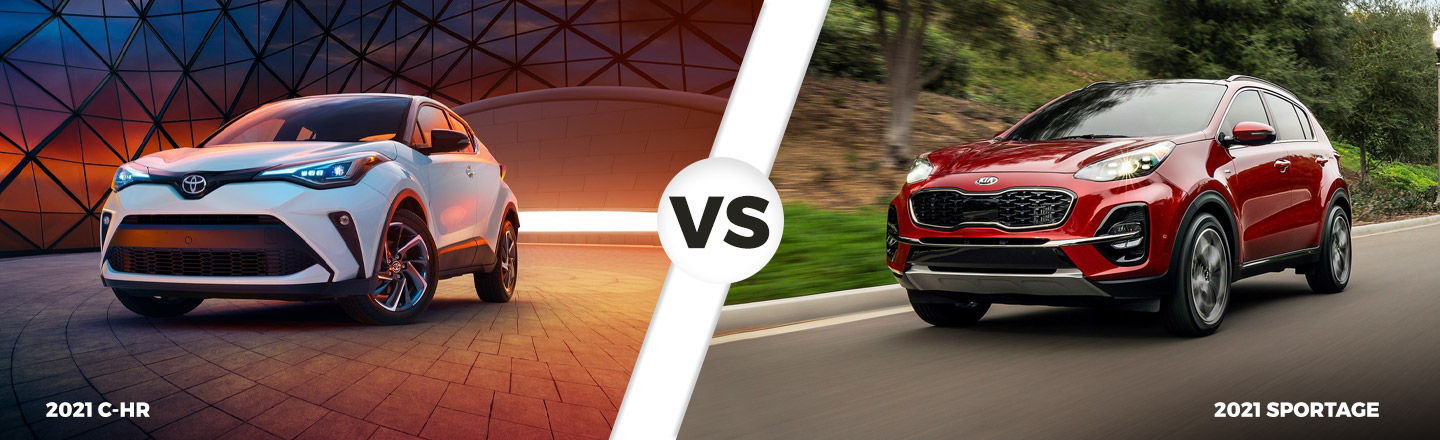 2021 C-HR vs. 2021 Kia Sportage in North Little Rock, AR