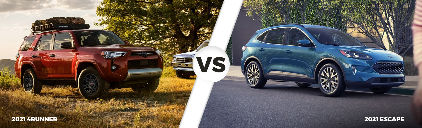 2021 Toyota 4Runner vs. 2021 Ford Escape in North Little Rock, AR