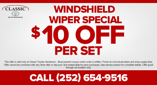 Windshield Wiper Special