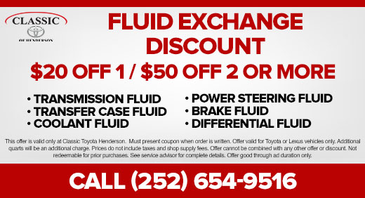 Fluid Exchange Discount