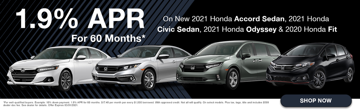 1.9% APR For 60 months
