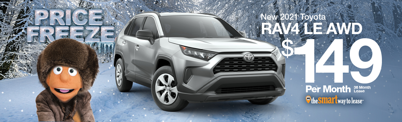 New 2021 Toyota Rav4 LE AWD